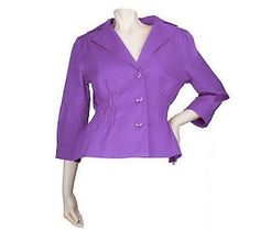 Joan Rivers 3/4 Sleeve Brights Signature Jacket via @QVC Official