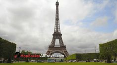 Wide Shot Of Eiffel Tower And Clouds Stock Video Footage - Storyblocks Motion Backgrounds, Tour Eiffel, Stock Video, Stock Footage, Family Travel, Paris Skyline, Greece, To Go, Shots