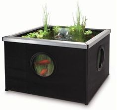 BLAGDON AFFINITY BLACK SQUARE PATIO FEATURE POOL FISH GARDEN POND WATER FILTER