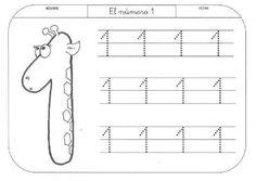 34 Láminas para aprender a escribir los números - Alumno On Kindergarten Math Worksheets, Worksheets For Kids, Learning Activities, Kids Learning, Pre K Curriculum, Preschool Curriculum, Alphabet Writing, Pre Writing, Preschool Painting