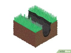 How to Build a French Drain. The French drain is a simple, yet versatile construction which can be used to drain standing water from problem areas in your yard or basement. The process is fairly simple; Backyard Drainage, Landscape Drainage, Backyard Landscaping, French Drain Diy, French Drain System, Drain Français, French Drain Installation, Dog Washing Station, Gardens