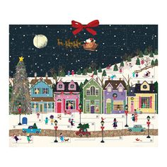 Deck the halls this holiday season with the Winter Wonderland Advent Calendar from Galison, featuring charmingly festive artwork from Joy Laforme and 25 fun activities for the whole family to enjoy as they count down the days to Christmas. Days To Christmas, Christmas Scenes, Retro Christmas, Vintage Christmas Cards, Christmas Pictures, Christmas Art, Christmas Decorations, Christmas Mantles, Victorian Christmas