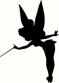 Tinkerbell Silhouette Silhouette Cameo Pinterest Tinkerbell