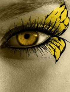 Yellow Butterfly Face Paint