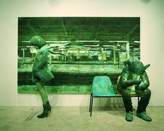 Shintaro Ohata / ''vapor trail'' (painting, polystyrene based sculpture)