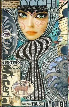 Collage Journal pages by Teesha Moore Art Journaling, Art Journal Pages, Collage Kunst, Collage Art, Collage Design, Mixed Media Journal, Mixed Media Collage, Moleskine, Collages