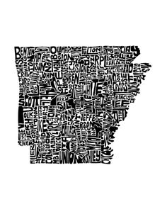 Typographic Arkansas Art Print