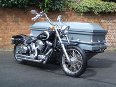 a different type of motorcycle hearse. I actually think this is kind of cool.