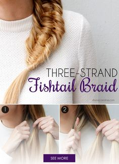 A braid can really be a statement piece, especially this gorgeous three-strand fisthail braid. You can wear a simple outfit with no accessories to let the braid be the star of the show! - DivineCaroline.com
