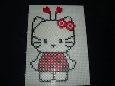 Lady bug Hello Kitty hama perler by Isabelle8119