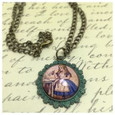 Alice In Wonderland Pendant Necklace Alice by VintageRusticRenewal