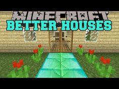 Minecraft: BETTER HOUSES (SECRET ROOMS, ANIMATED DOOR, BLOCK MIXER) Mod Showcase