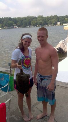 first pic as a couple, caught us a turtle! #goodeats