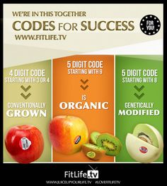 Codes on Food in the supermarkets. No codes required for your own #organic #heirloom #garden