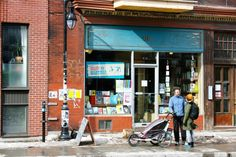 """Few shops in Montreal's Mile End say """"hipster"""" more than the popular Bernard Street bookstore operated by the world-famous graphic novel publisher, Drawn & Quarterly.  The store stocks its own publications and a wide variety of literature by authors from around the world."""