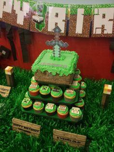 Minecraft Sword Cake | CatchMyParty.com