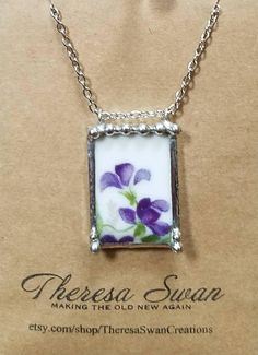 Your place to buy and sell all things handmade Antique China, Vintage China, Broken China Jewelry, Glass Craft, Jewelry Necklaces, Jewellery, Violets, Mothers, Mosaic
