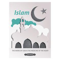 Islam Star & Crescent Presentation Folder Design Template