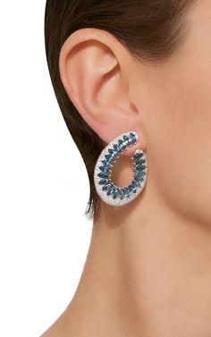 18K White and Topaz Gold Mirage Earrings by Hueb   Moda Operandi