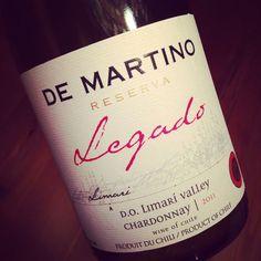De Martino Legado Reserve Chardonnay Limari 2011 #dansmonverre