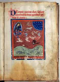 Treatise of the World's Creation - World Digital Library Medieval Manuscript, Medieval Art, Illuminated Manuscript, Duccio Di Buoninsegna, Small Icons, Historical Art, Adam And Eve, Watercolor Drawing, Sacred Art