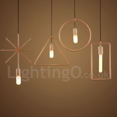 1 Light Rustic / Lodge Wooden Dining Room Pendant Light for Study Room/Office Lamp