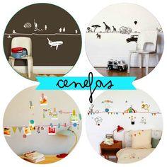cenefas para decorar habitaciones infantiles de Mimi'lou