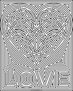 heart knot coloring page- available in jpg and transparent png format Geometric Coloring Pages, Heart Coloring Pages, Pattern Coloring Pages, Printable Adult Coloring Pages, Mandala Coloring Pages, Colouring Pages, Free Coloring, Coloring Books, Coloring Stuff