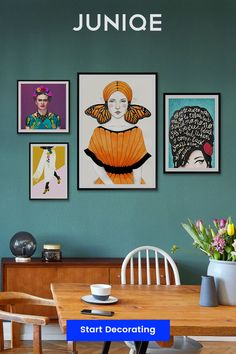 Colorful wall & interior decoration  Shop wall art by colour, theme and style at JUNIQE   Designs printed on gallery-quality paper using eco-friendly inks   Wall art delivered ready-to-hang.