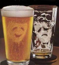 Prima e dopo una birra