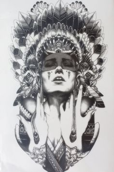 Ancient women keep the tears Size 22 x 12cm Brand New Body Art tatoo Temporary Tattoo Exotic Sexy Henna Tattoo Tattoo Stickers
