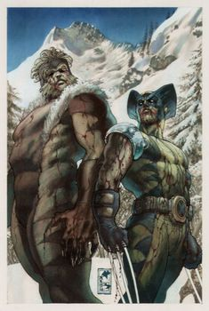 Sabretooth and Wolverine by Simone Bianchi: