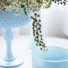 Use thrift store glassware to create an instant collection of beautiful colored glass