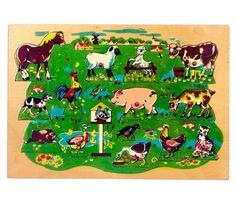Boerderijdieren nopjespuzzel - De Oude Speelkamer