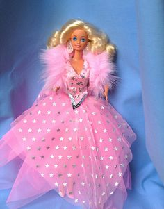 My dream gown back then. I was 8. (Superstar Barbie, 1988)