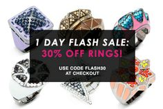 Today's the day to pick up all the rings you've been keeping your eye on. Take 30% off any rings in this sale for 1 day only! Shop now, this deal will be over in a flash! FLASH SALE: Rings 30% Off Until 11:59pm ET! Click Here: https://commonsensejewelry.kitsylane.com/join/  Spending less & Living Better