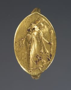 Ring; Unknown; Greece; 4th century B.C.; Gold; 1.9 x 1.3 cm (3/4 x 1/2 in.); 85.AM.279