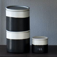 Canvas - Covered Jars with Chalk Surface