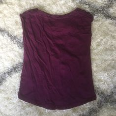 LOFT purple boat neck sleeveless top Pretty boat neck sleeveless top with crochet detail along the neckline and shoulders. Great for work, casual, or dressing up. Only worn a few times. LOFT Tops