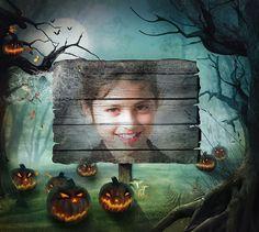 Montajes Fotos online Halloween gratuitos. #halloween #happyhalloween #calabazas