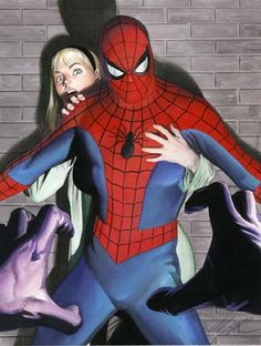 Spider-Man and Gwen Stacy by Alex Ross