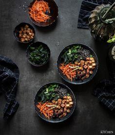 Miso polévka s tofu, houbami shitake a nudlemi Palak Paneer, Tofu, Ethnic Recipes