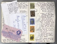 Travel Journal- like the stamps and postmarks.