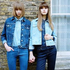 """From mod-girl '60s to soulful '70s, check out our new dreamy denim feature with Margot and Viv on Topshop.com. Item numbers: 05J14HIND, 05H10HBLC, 05J12HBLC, 02T05GMDT #denim #indigo #bleached #jean #flares #jacket #seventies #models #shoot #denimdreamers #Topshop #topshopstyle"" Photo taken by @topshop on Instagram, pinned via the InstaPin iOS App! http://www.instapinapp.com (03/12/2015)"