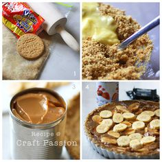 Get the recipe and method to make this authentic English dessert - Banoffee Pie. Serve Earl Grey Tea and have a piece of banoffee pie on a lazy afternoon. English Desserts, English Food, Pie Recipes, Sweet Recipes, Dessert Recipes, Banoffi Pie, Yummy Snacks, Yummy Food, Digestive Biscuits