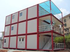 Buy flat pack container hotels with durable from Qingdao XGZ Steel Structure Co.,Ltd,Container House Distributor online Service suppliers. Container Home Designs, Container Homes For Sale, Building A Container Home, 40ft Container, Prefab Shipping Container Homes, Shipping Container Design, Shipping Container House Plans, Shipping Containers, Container Architecture