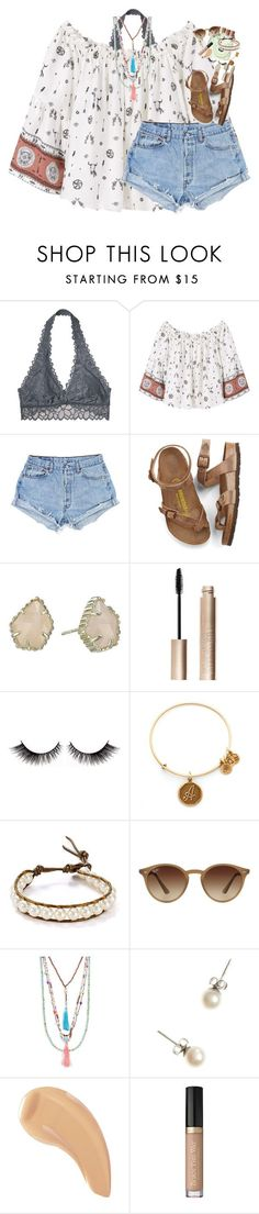 fr this is so messy but idec by classynsouthern ❤ liked on Polyvore featuring Victorias Secret, MANGO, Birkenstock, Kendra Scott, Giorgio Armani, Fuji, Alex and Ani, Chan Luu, Ray-Ban and Panacea