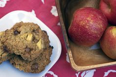 Supposed to be Oatmeal Caramel Apple cookies but I used toffee bits instead, so Oatmeal Toffee Apple cookies.  :)