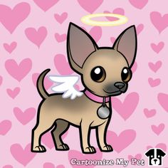 Design your own cartoon pets! Share your creations online or buy them on loads of cool stuff! Chihuahua Drawing, Chihuahua Art, Cool Art Drawings, Cartoon Drawings, Dog Pictures, Cute Pictures, Cartoon Pets, Dog Stencil, Dog Illustration