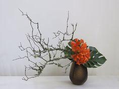 Melbourne Chapter Inc inaugurated March 1959 Tropical Flower Arrangements, Creative Flower Arrangements, Ikebana Flower Arrangement, Ikebana Arrangements, Bonsai, Deco Floral, Arte Floral, Centerpiece Decorations, Flower Decorations
